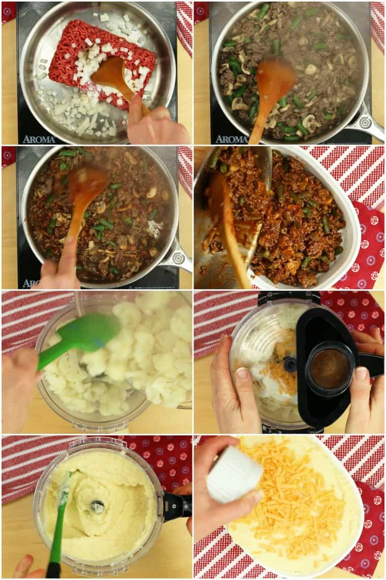 Step by Step Photos for How to Make Low Carb Shepherd's Pie