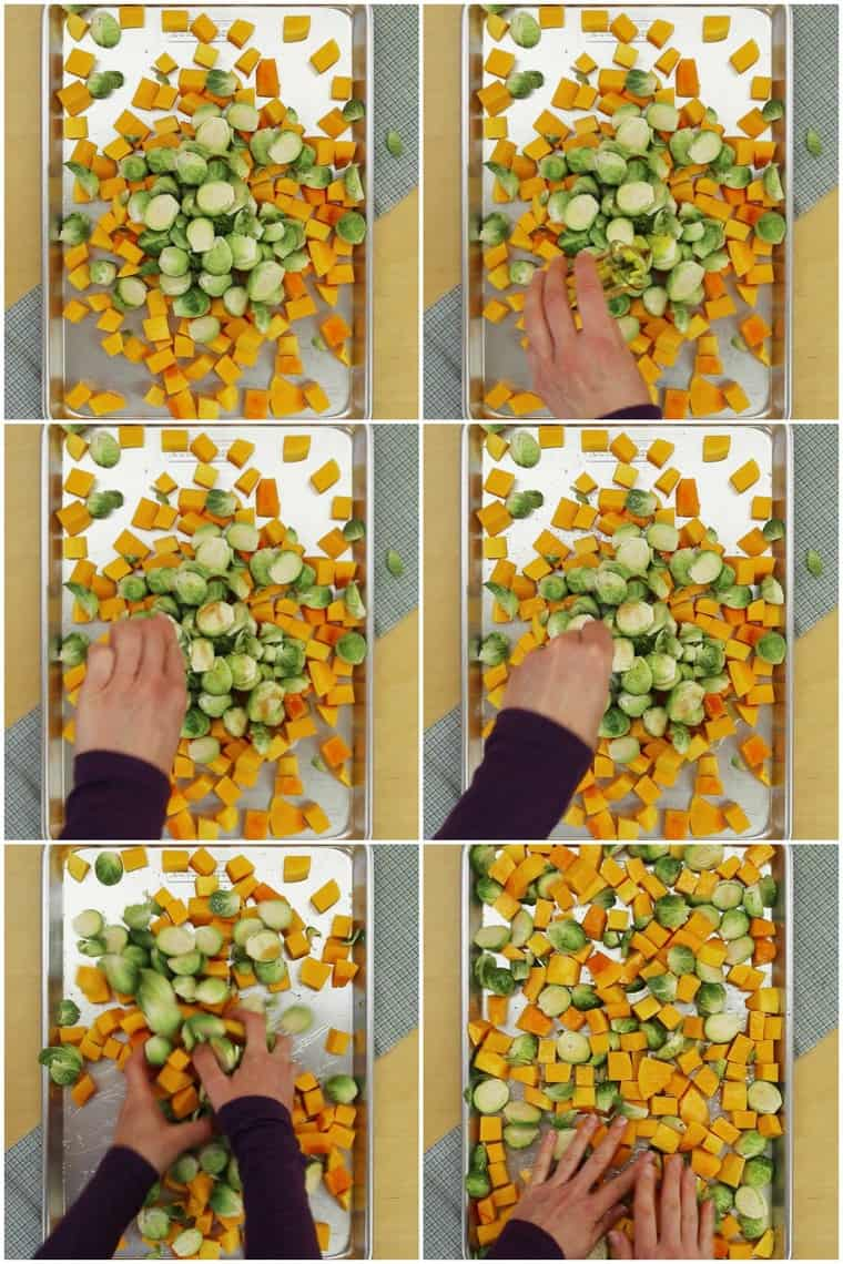 Step-by-Step How to Roast Brussel Sprouts and Butternut Squash