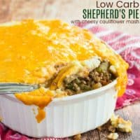 Healthy Shepherd's Pie with Cheesy Cauliflower Mash