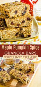 Cranberry Maple Nut Pumpkin Granola Bars Recipe Pinterest Collage