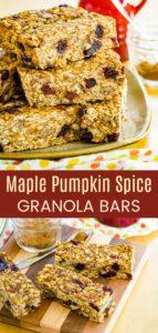 Cranberry Maple Nut Pumpkin Granola Bars Pinterest Collage
