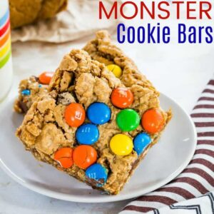 Featured Image of Monster Cookie Bars