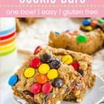 Best Monster Cookie Bars Pin Template Pink