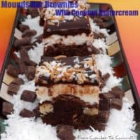 Mounds Bars Brownies With A Creamy Coconut Buttercream