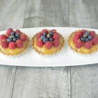 No Bake Berry Lemon Tartlets