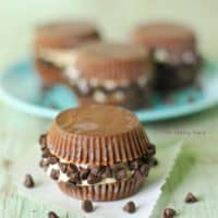 Peanut Butter Cup Ice Cream Sandwiches
