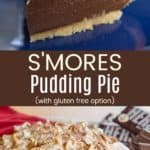 S'Mores Chocolate Cream Pie Pinterest Collage