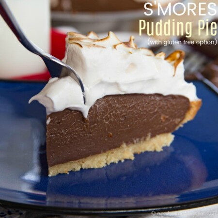 S'Mores Chocolate Pudding Pie Recipe Featured Image