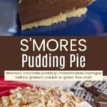 S'Mores Pudding Pie Pinterest Collage