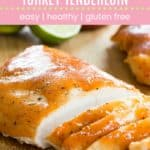 Sriracha Lime Slow Cooker Turkey Tenderloin Pin Template Pink