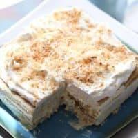 Vanilla Coconut Ice Box Cake