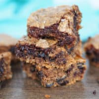 Almond Butter Blondies with Dark Chocolate, Coconut and Sea Salt