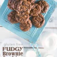 Fudgy Gluten Free Brownie Cookies