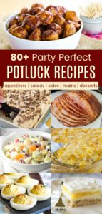 Collage of Recipes for the Best Potluck Dishes