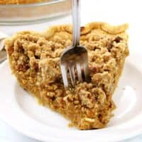 Apple Butter Pumpkin Pie with Streusel Topping