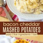 Cheesy Mashed Potatoes with Bacon Pinterest Collage