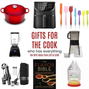 Collage of the Best Gifts for People Who Love to Cook