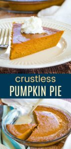 Gluten Free Pumpkin Pie Without Crust Pinterest Collage