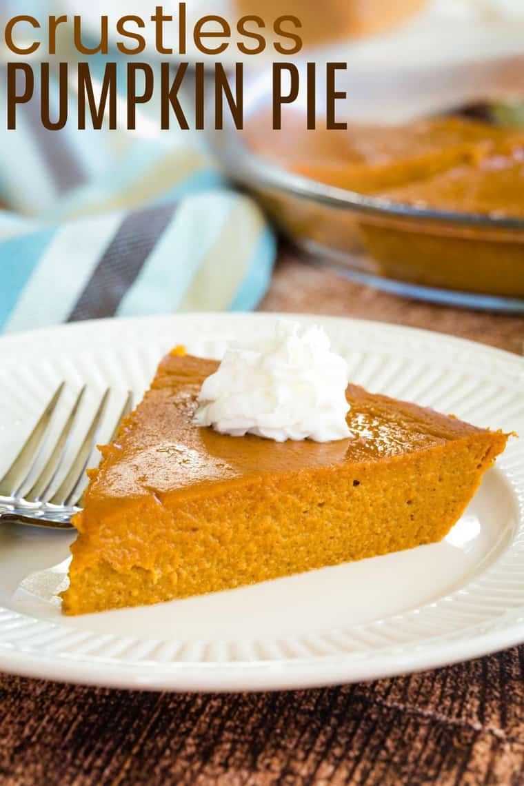 Best Crustless Pumpkin Pie Recipe Image with title