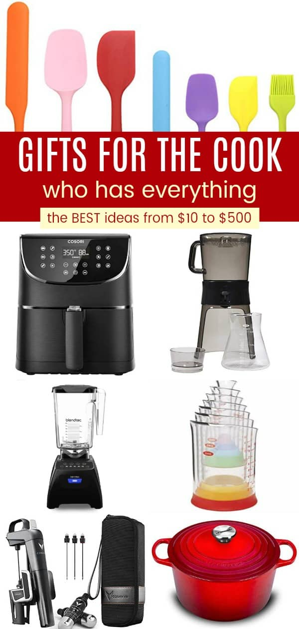 Collage of the Best Foodie Gifts for People Who Love to Cook
