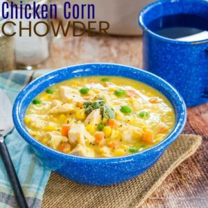 Chicken Corn Chowder Featured Image with Title