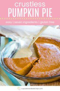 No Crust Pumpkin Pie Pin Template Pink