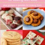 Easy Christmas Cookie Recipes to Make with Kids Pin Template Pink