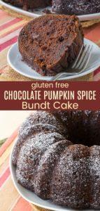 Gluten Free Chocolate Pumpkin Spice Cake Recipe Pinterest Collage