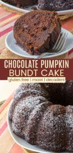 Gluten Free Chocolate Pumpkin Bundt Cake Pinterest Collage