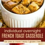 Overnight Gluten Free French Toast Casserole for One or More Pinterest Collage
