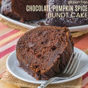Gluten Free Chocolate Pumpkin Spice Bundt Cake Recipe Featured Image