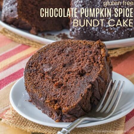 Gluten Free Chocolate Pumpkin Spice Bundt Cake Recipe Featured Image