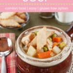 Turkey Pot Pie Soup Pin Template Pink