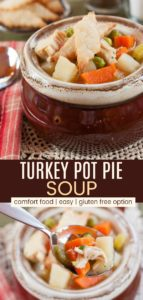 Turkey Soup with Pie Crust Crackers Pinterest Collage
