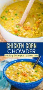 Easy Chicken Corn Chowder Recipe Pinterest Collage
