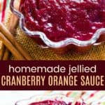Cinnamon Cranberry Orange Sauce Recipe Pinterest Collage