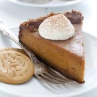 Deep Dish Pumpkin Pie with Gingersnap Crust
