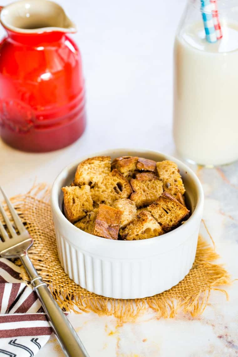 Mini Overnight French Toast Casserole on a table set for breakfast