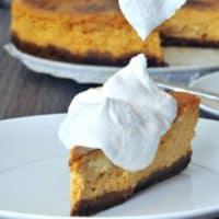 Vegan Maple Cream Pumpkin Cheesecake with Gingersnap Crust