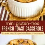 Gluten Free Individual Overnight French Toast Casserole Pinterest Collage