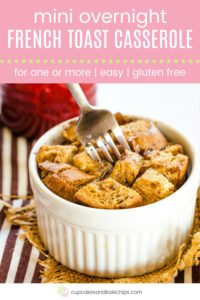 Mini Gluten Free French Toast Casserole Pin Template Pink
