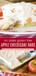 No Bake Apple Cinnamon Cheesecake Bars Pinterest Collage