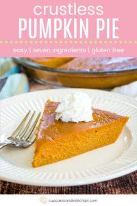 Crustless Pumpkin Pie Pin Template Pink