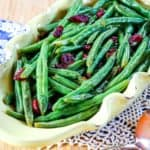 Cranberry Orange Glazed Green Beans Recipe Image with title