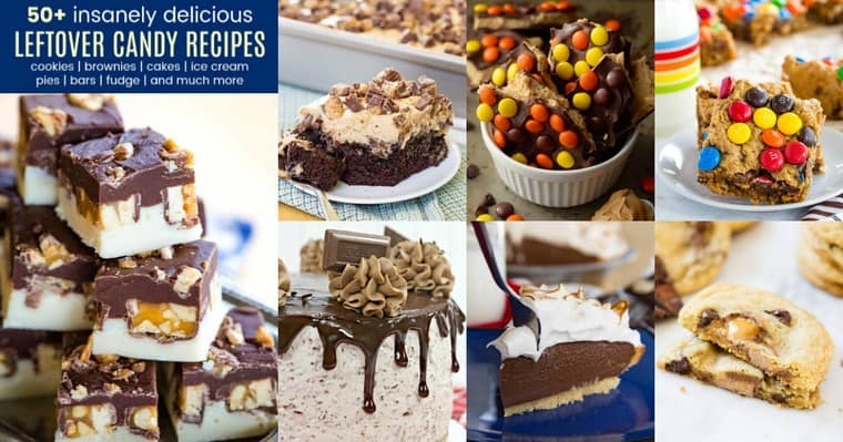 Photos of recipes for what to do with leftover candy