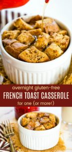 Mini Overnight French Toast Casserole Pinterest Collage