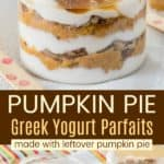 Easy Pumpkin Pie Parfaits Recipe Pinterest Collage