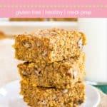 Gluten Free Pumpkin Breakfast Bars Pin Template Pink