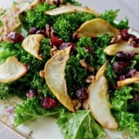 Roasted Pear, Walnut and Cranberry Salad