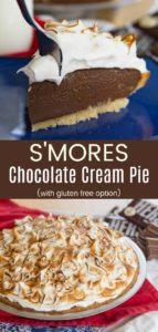 Smores Pudding Pie Recipe Pinterest Collage